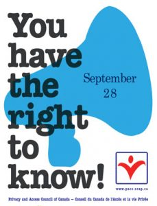 September 28 is Right to Know Day