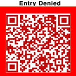 'Entry Denied' QR code